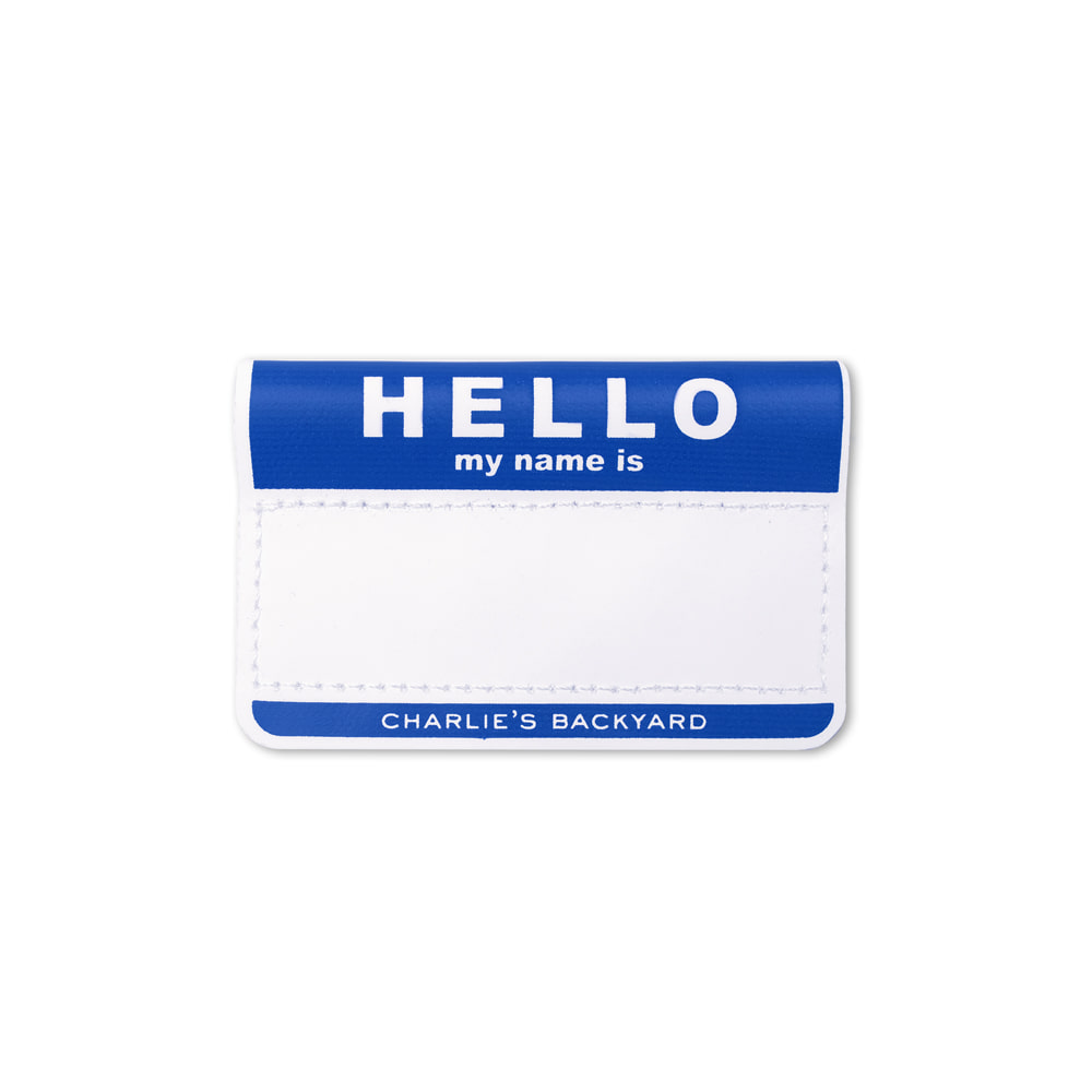 HELLO NAME TAG / BLUE