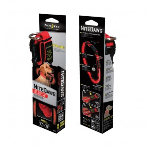 NITE DAWG DOG COLLAR / SMALL