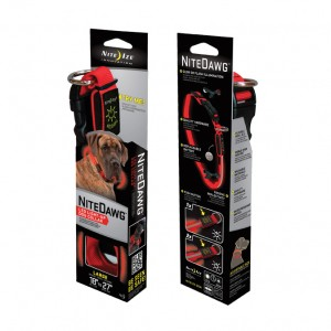 NITE DAWG DOG COLLAR / LARGE