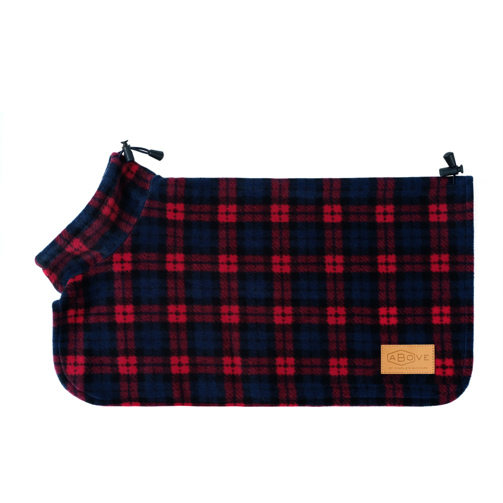 ABOVE PONCHO COAT / RED CHECK