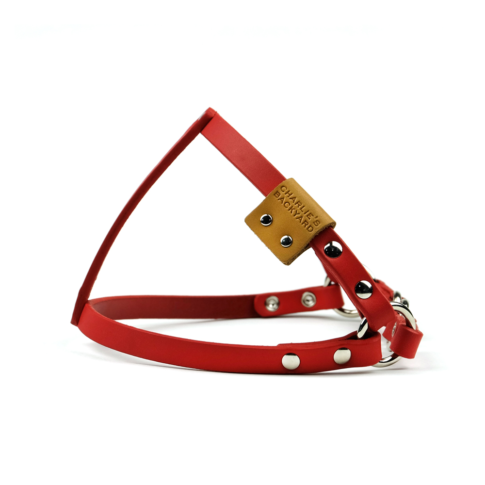 CLASSIC LEATHER HARNESS / RED