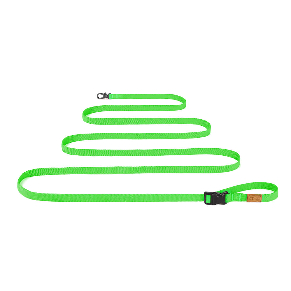 FIELD LONG LEASH 3M 5M / NEON GREEN